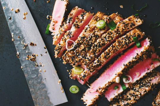 Steak De Thon Avec Croûte De Sésame Le Coup De Grâce - Cuisiner du thon rouge