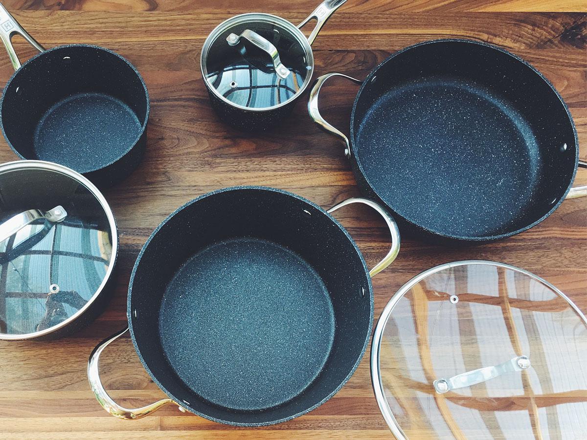 Batterie de cuisine the rock heritage par starfrit le - Batterie de cuisine the rock ...
